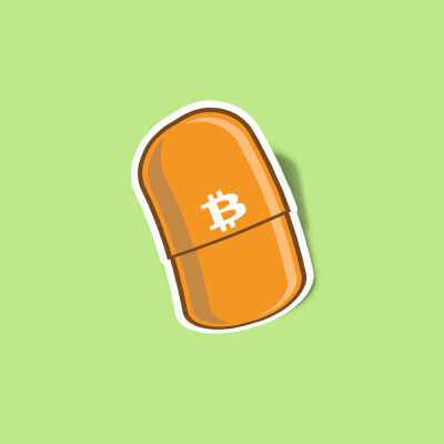 استیکر Bitcoin - the orange pill