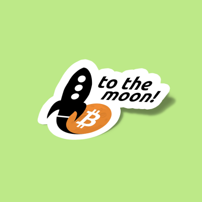 استیکر Bitcoin to the moon