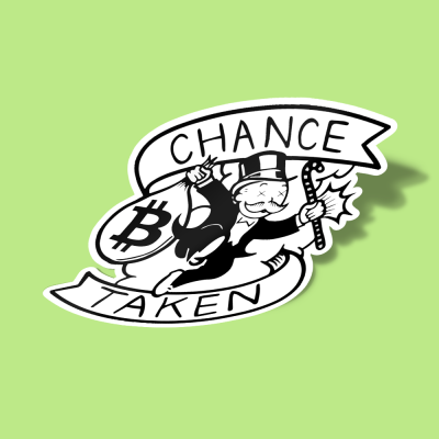 استیکر Chance Taken Amazing BitCoin