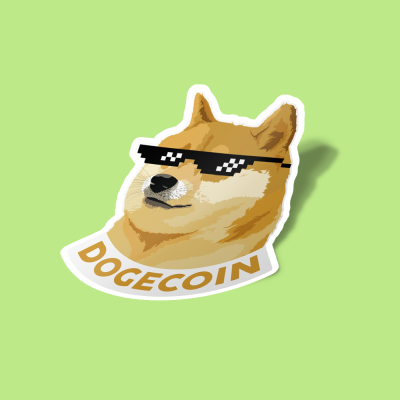 استیکر DOGECOIN  cool