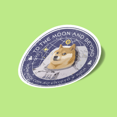 استیکر Dogecoin To the Moon