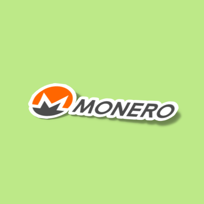 استیکر monero-xmr-logo-full