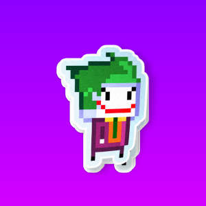 استیکر Joker in 8 bit World