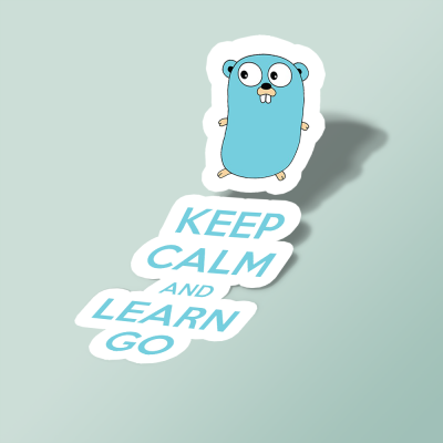 استیکر Keep calm and Learn Go