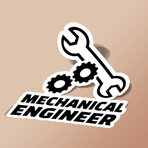 استیکر Mechanical engineer