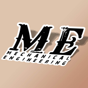 استیکر MECHANICAL ENGINEERING
