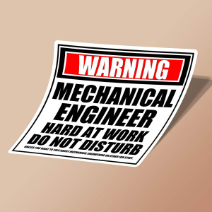 استیکر Warning Mechanical