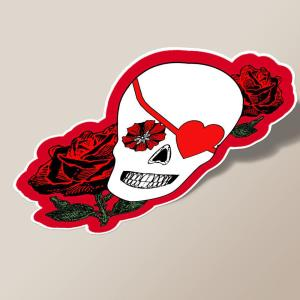 Valentine Skull with Roses
