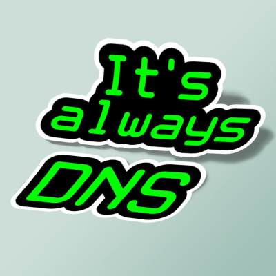 استیکر It's Always DNS
