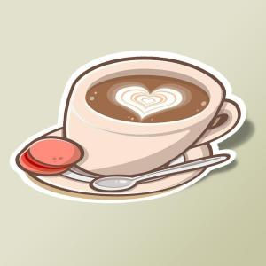 lovely coffee with heart