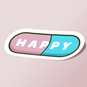 Cute and kawaii happy pills