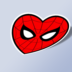 استیکر Spiderman Heart