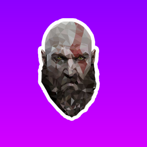 استیکر GOD OF WAR
