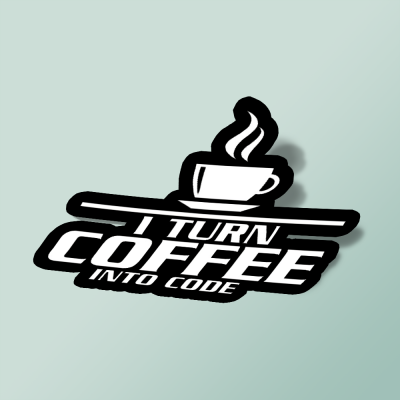 استیکر I-Turn-COFFEE-into--code