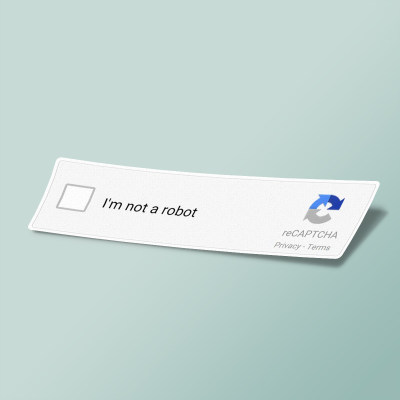 استیکر Not ticked I'm not Robot