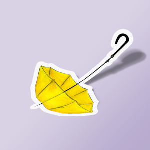 استیکر The Yellow Umbrella