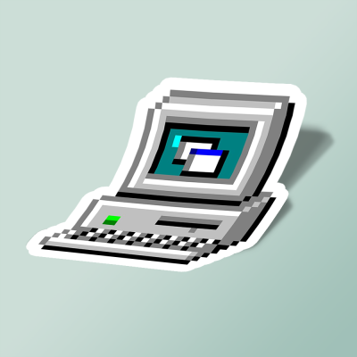 استیکر Old PC Icon