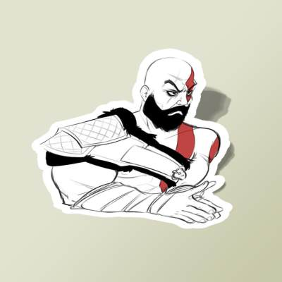 استیکر GOD OF WAR sketch