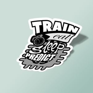 استیکر train-eat-sleep-predict