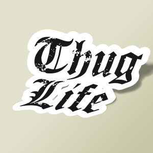 استیکر Thug Life - Hiphop group