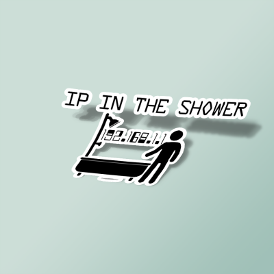 استیکر IP in the shower
