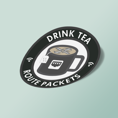 استیکر Drink Tea, Route Packets