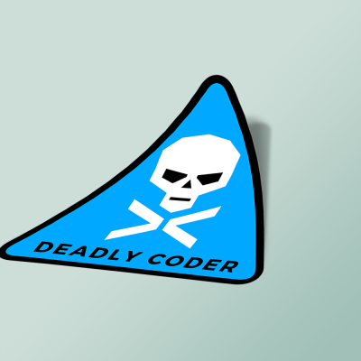 استیکر deadly-coder