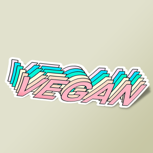 استیکر Vegan & proud