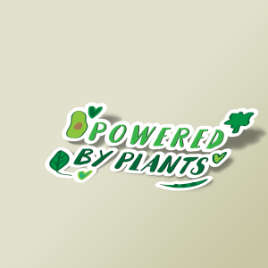 استیکر Powered by plants