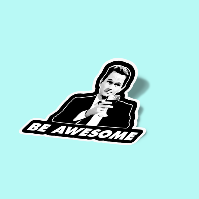 استیکر Be Awesome  بارنی