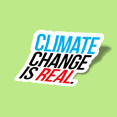 استیکر CLIMATE CHANGE IS REAL