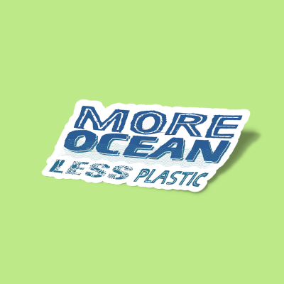 استیکر More Ocean, Less Plastic