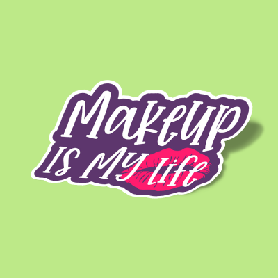 استیکر Makeup is my life