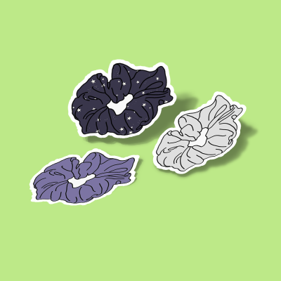 استیکر Scrunchie Purple Pack