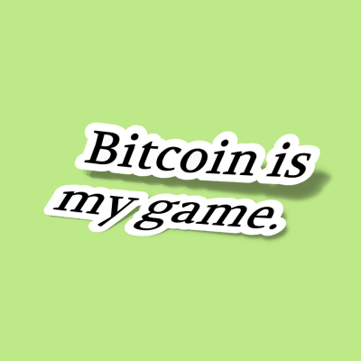 استیکر Bitcoin is my game