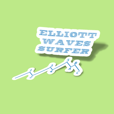 استیکر Elliott waves surfer