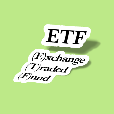 استیکر ETF Exchange Traded Fund