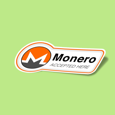 استیکر Monero Accepted Here