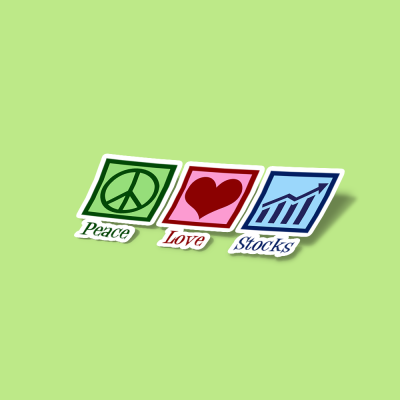 استیکر Peace Love Stocks