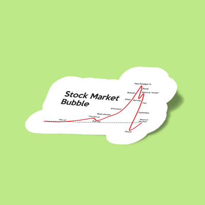 استیکر Stock Market Bubble