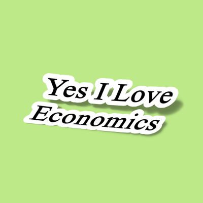 استیکر Yes I Love Economics