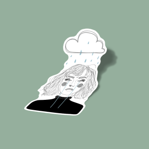 استیکر Cloud.girl.-female art