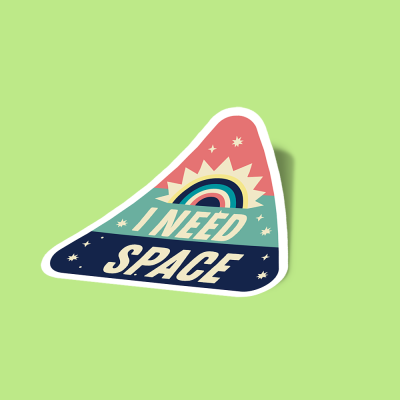 استیکر i-need-space-pop-art
