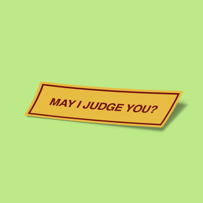 استیکر May-i-judge-you