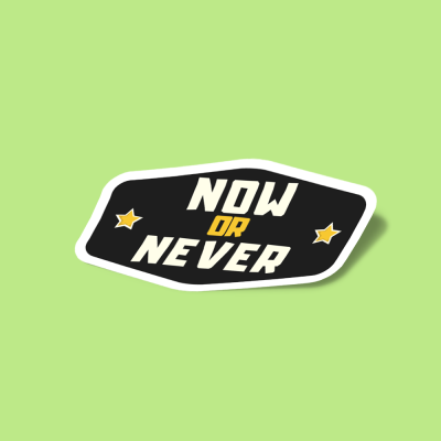استیکر now-or-never