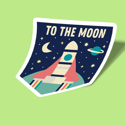 to the moon ribbon