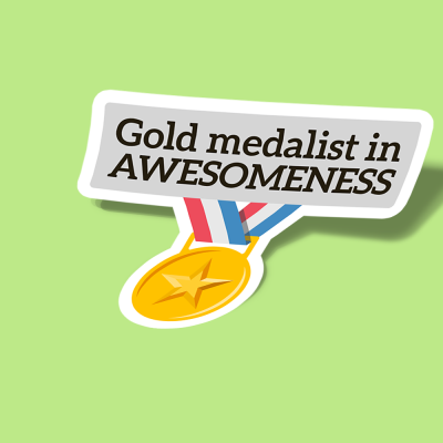 gold medalist in awesomeness