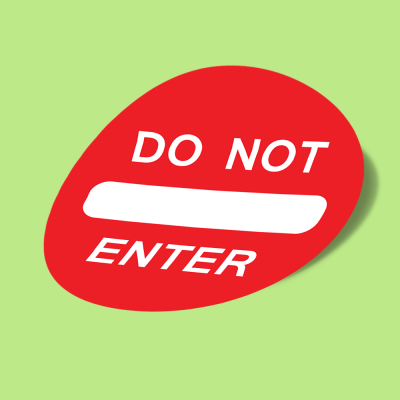 do not enter1