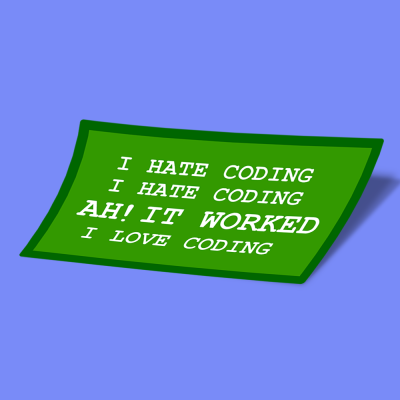i hate coding i love coding original