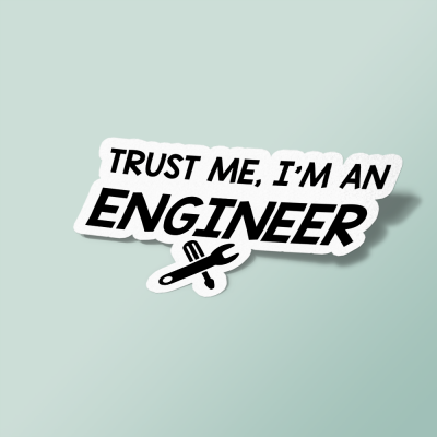استیکر trust me i am an engineer